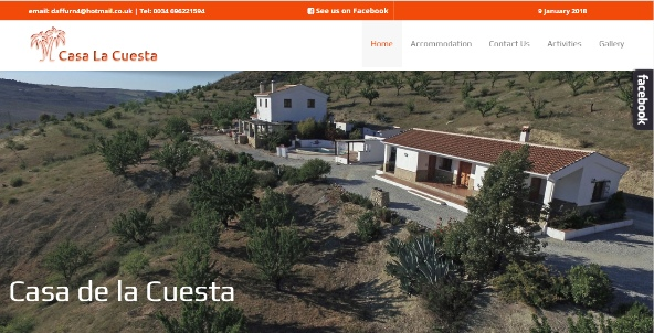 A guest house website with Social Media Integration
